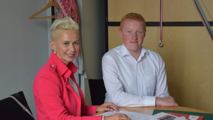 Silvia Breher mit Georg Fangmann bei Jugend und Parlament